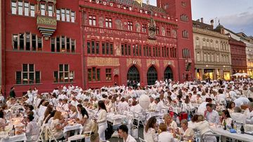 Bilder vom White Dinner Basel